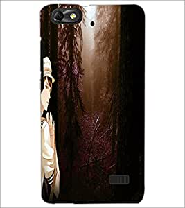 PrintDhaba Scenary D-4921 Back Case Cover for HUAWEI HONOR 4C (Multi-Coloured)