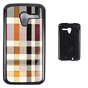DooDa - For Karbonn Titanium Dazzle 2 S202 Snap-on Hard PU Leather & TPU Plastic Shoulders Case Cover, Fancy Fashion Designer With Full Protection Of Pouch