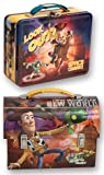 Disney/Pixar Tin Toy Story Lunch Boxes, One Round & One Square (Brown380)