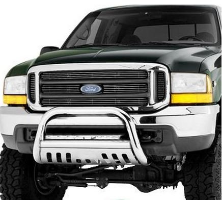 Chrome Stainless Steel Bull Bar Brush Bumper Guard Heavy Duty Ford F250 / F350 / F450 / F550HD (Bull Guard For Trucks compare prices)
