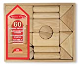 Melissa & Doug Standard Unit Building Blocks - Natural Hardwood (60 Pieces)