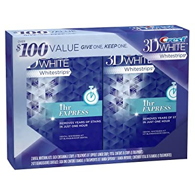 Best Cheap Deal for Crest 3D Whitestrips 1-Hour Express Dental Whitening Kit, (Pack of 2) by P&G - Free 2 Day Shipping Available