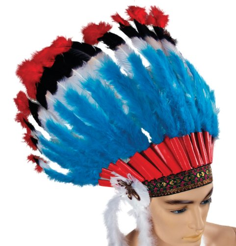 Forum Deluxe Native American Feather Headdress
