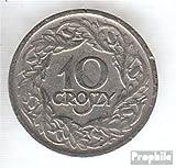 Polonia km-No.. : 11 1923 Nickel 1923 10 Groszy coronado águila (monedas para los coleccionistas)