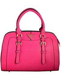 Gouri Bags Stylish Handbags Shoulder Leather Bag Women Ladies Girl Purse Office Bag Gift Handbag Pink With Sling Belt(SaqimaPinkBigSize2, Pink)