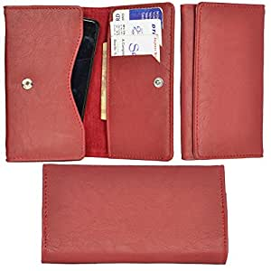 R&A Pu Leather High Quality Wallet Pouch Case Cover With Card Slot & Note Slots,Soft Inner Velvet For Lenovo A536
