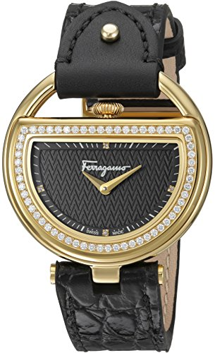 Salvatore-Ferragamo-Womens-Buckle-Quartz-Stainless-Steel-and-Leather-Casual-Watch-ColorBlack-Model-FG5140015