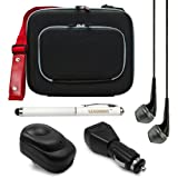 Hardcore Protective Hard Cube Carrying Bag Case for HP Pro X2 410 G1 11.6 inch Tablet + USB Wall & Car Charger + Laser Stylus Pen + Black VanGoddy Headphones (Black)