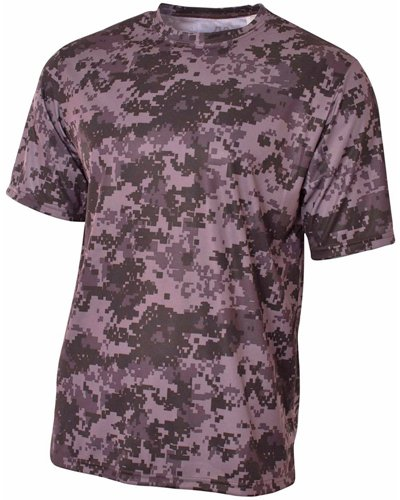 A4 N3256 Camo Performance Tee - Graphite, Large