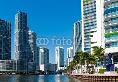 """Wallmonkeys Peel and Stick Wall Decals - Miami River Condos - 60""""W x 42""""H Removable Graphic"""