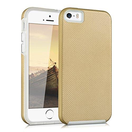 kalibri-Armor-Hlle-fr-Apple-iPhone-SE-5-5S-TPU-Silikon-und-Kunststoff-Case-in-Champagner