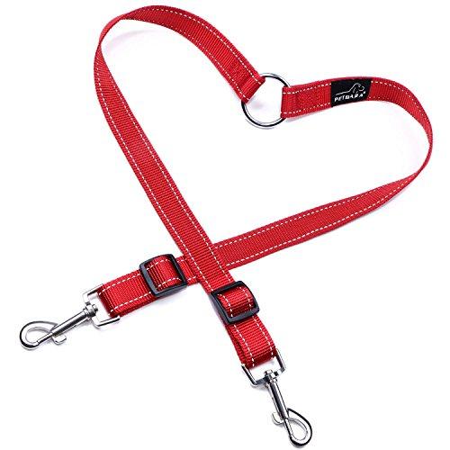 double-dog-lead-coupler-petbaba-30-50cm-1-16ft-long-reflective-adjustable-nylon-training-lead-for-2-
