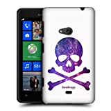 Head Case Galaxy Skulls And Crossbones Hard Back Case Cover For Nokia Lumia 625