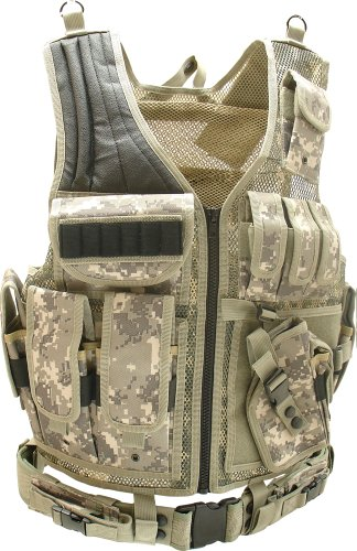 UTG Tactical Vest with Shot Shell Cartridge Holder, Army Digital