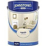 Johnstones No Ordinary Paint Water Based Interior Vinyl Matt Emulsion Magnolia 5 Litre