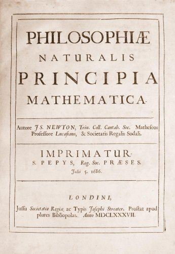Title Page For Philosophiae Naturalis Principia Mathematica Wall Mural - 18 Inches H X 12 Inches W - Peel And Stick Removable Graphic front-649196