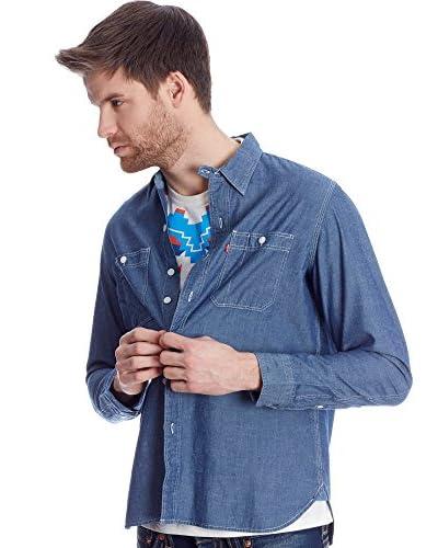 Levi'S Camicia Uomo Barstow Western [Blu]