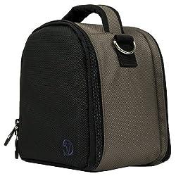 VanGoddy Laurel DSLR Camera Carrying Handbag for Nikon Coolpix L840 / L830 / L340 / L320 L820 / L610 / L810 / L120 / L110 / L100 Digital SLR Cameras + Screen Protector + Tripod Stand (Steel Grey)