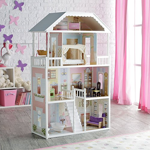Kidkraft savannah dollhouse with furniture new ebay for Kinderzimmer couch