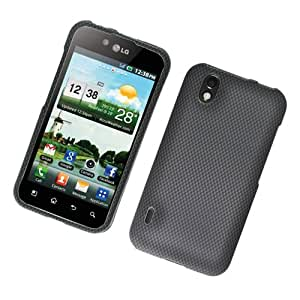 Eagle Cell PILLS855R127 Stylish Hard Snap-On Protective Case for LG MARQUEE LS855 - Retail Packaging - Carbon Fiber