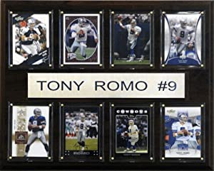 NFL Tony Romo Dallas Cowboys 8 Card Plaque by C&I Collectables