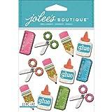 Jolee's Boutique Dimensional Stickers, School Supplies Repeats