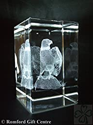 EAGLE ON ROCK LASER PAPERWEIGHT 3 DIMENSIONAL 3647