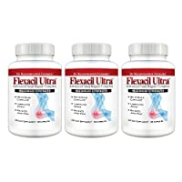Flexacil Ultra - (3 bottles) The Most Advanced Joint Repair and Pain Relief Formula - Premium Grade Glucosamine, Chondroitin, MSM, Hyaluronic acid and Omega 3 Fish Oil - 60 capsules each