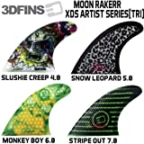 3DFINS 【3D フィン】 MOON RAKERR  XDS ARTIST SERIES トライフィン