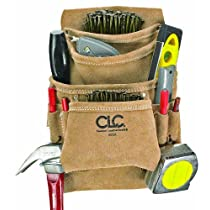 Custom Leathercraft I923X Suede Carpenter's Nail and Tool Bag, 10 Pocket