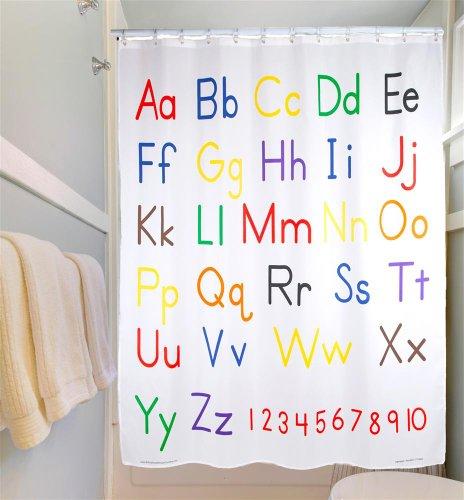 Educational Shower Curtain - Alphabet