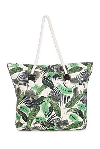 Rip Curl Shoulder Bag Palm Beach Islanda, bianco, 56 x 16 x 40 cm, 25,6 litri, LSBEU4
