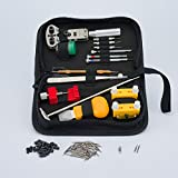 Deluxe Watch Repair Kit. High Quality Tools. Best for Battery Replacement on Screwed & Pry Off Backs, Link Pin Removal & Replacing Straps. Spare Pins. Instructions. FREE Polishing Cloth