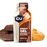 GU Original Sports Nutrition Energy Gel, Peanut Butter / Chocolate, 24-Count
