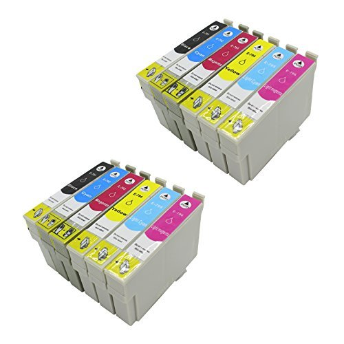 12 PACK T079 Remanufactured Inkjet Cartridges for Epson T079 T079120 T079220 T079320 T079420 T079520 T079620 Compatible With Epson Artisan 1430, Stylus Photo 1400 (12 Pack)