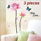 DIY Flower Butterfly Wall Sticker Decals LW966