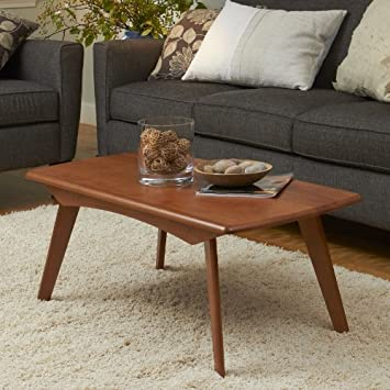 Manchester Wood Retro Rectangular Coffee Table - Auburn Beech