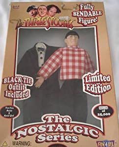 MOE of The Three Stooges DOLL with TUX + SPORT Clothes NRFB