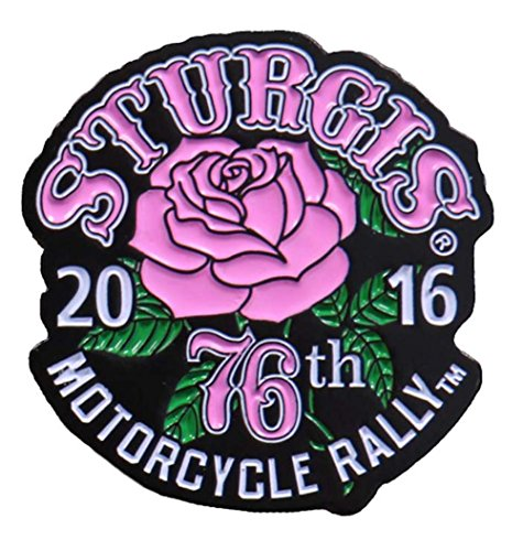 Hot Leather Women's Official 2016 Sturgis Motorcycle Rally Rose Enamel Pin