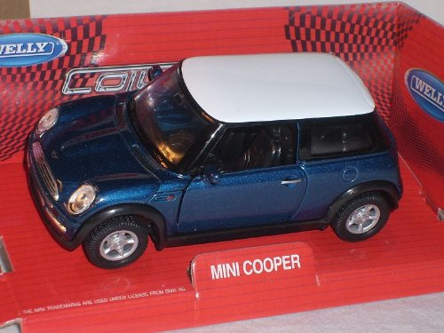 new Mini Cooper Blau Weisses Dach