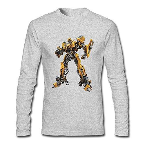 HEJX Men Transformers Geek Long Sleeves T-Shirt HeatherGray S