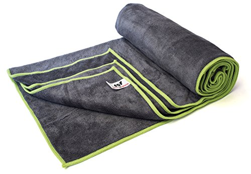 Quick Drying Microfiber Yoga Sports Travel Towel - Perfect for the Gym, Camping, Fitness, Backpacking and the Beach - Most Absorbent on The Market - Extremely Soft and Lightweight (20 Green Machine Purple compare prices)