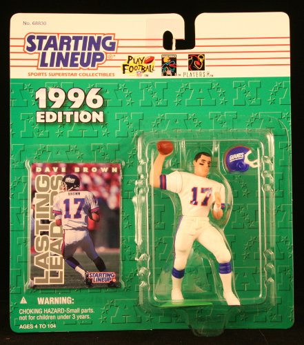 DAVE BROWN / NEW YORK GIANTS 1996 NFL Starting Lineup Action Figure & Exclusive NFL Collector Trading Card