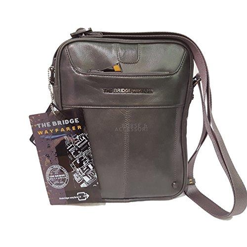 The Bridge Wayfarer borsa tracolla pelle uomo grigio porta tablet Fancy L02FANCSBI77
