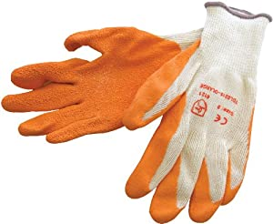 Am-Tech Latex Palm Coated Gloves - Orange