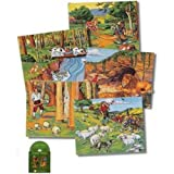 Aesop's Fables Soft Quiet Felt Book w/ Cd- Includes- 5 Page Book, 57 Figures, Cd, Literature