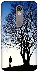 The Racoon Lean beauty of nature hard plastic printed back case / cover for Motorola Moto X Force