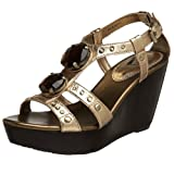 Report Women's Manson Wedge Sandal,Gold,7.5 M US