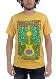 Santana - Mens Lotus Guitar T-Shirt in Camel