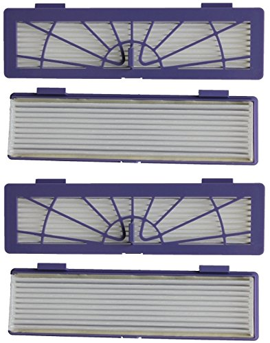 Check Out This 4-pack High-Performance Filter replacement + 1 Side Brush for all Neato Botvac Series...